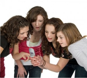 teens with phone