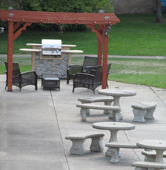 grilling area