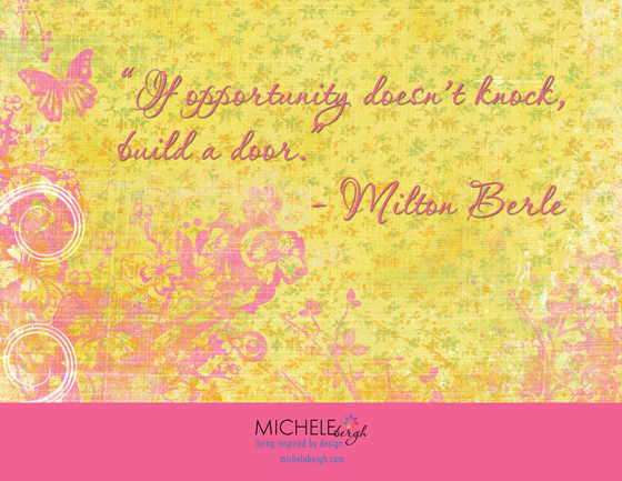 inspirational quote michele bergh art