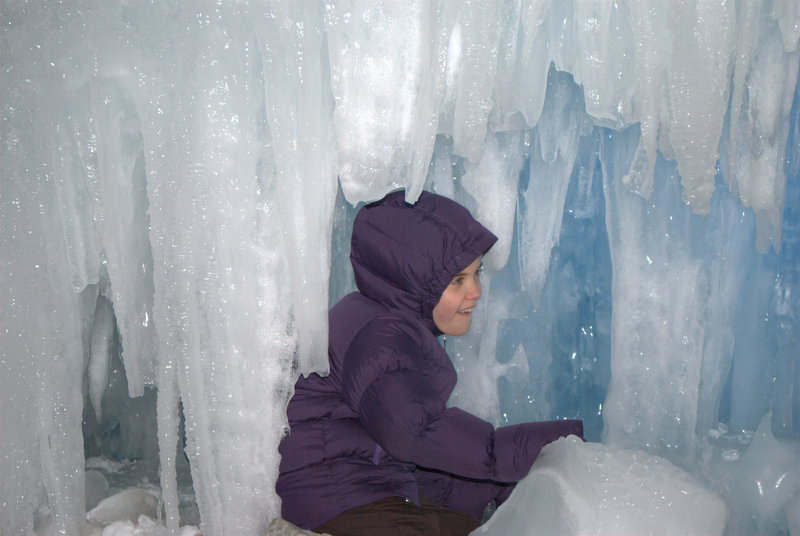 Smiling Child in the Ice Castle