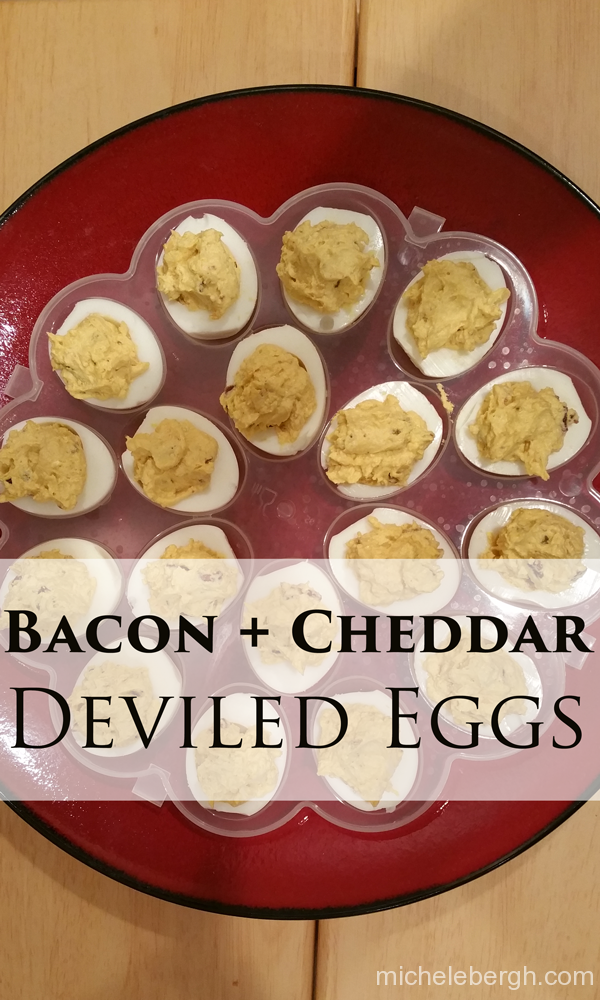 Bacon Cheddar Deviled Eggs | Living Inspired By Design